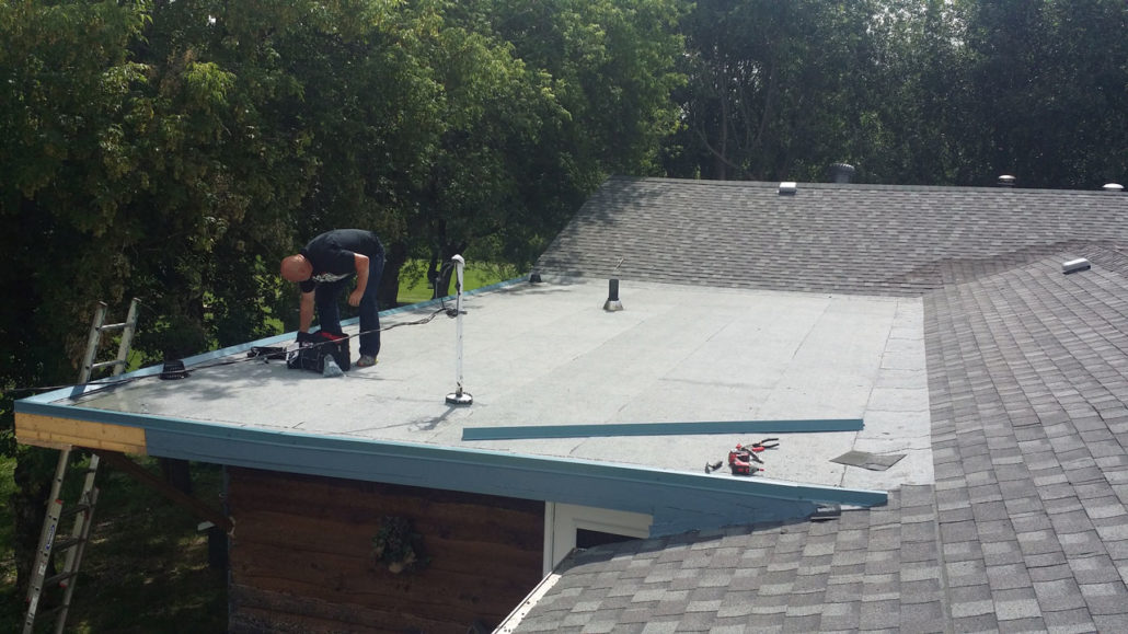low sloped roof