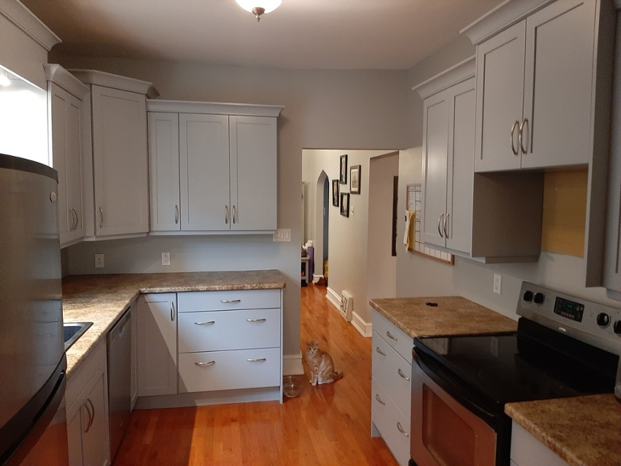 Cabinet refinishing colours to give your kitchen a new feel