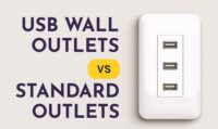 USB wall outlets vs. standard outlets